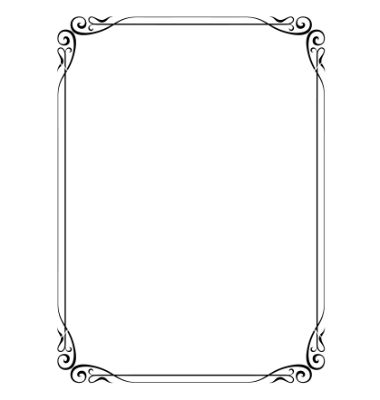 380x400 Simple Ornamental Decorative Frame Vector 691861