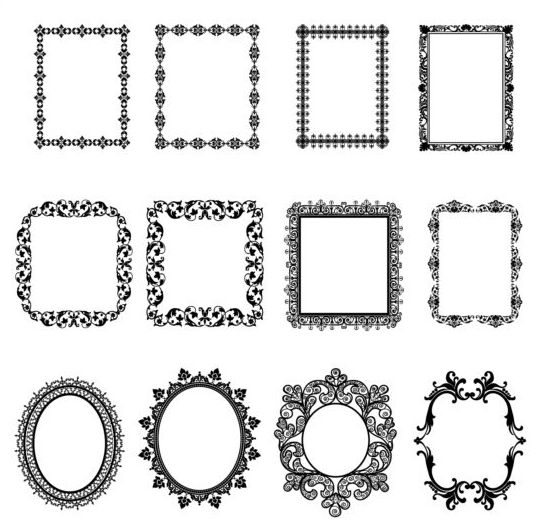 539x520 Square And Round Black Frame Vector Free Download