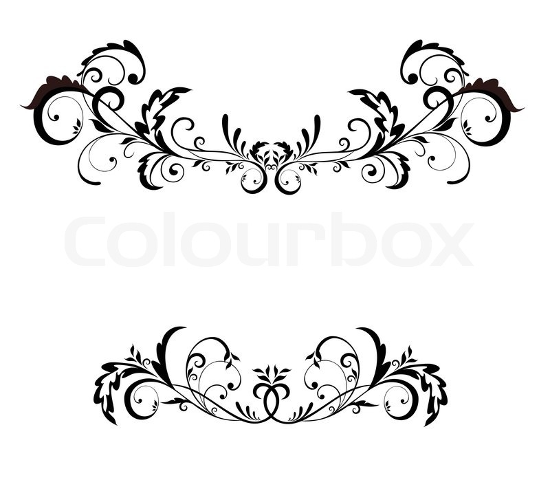 800x698 Vintage Black Frame Stock Vector Colourbox