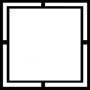 300x300 Black And White Geometrical Picture Frame Vector Photo Free Download