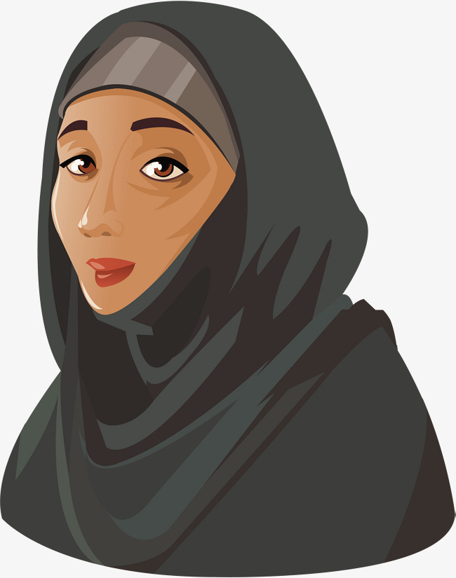 650x825 Women In The Middle East, Vector Png, Woman Head Picture, Black