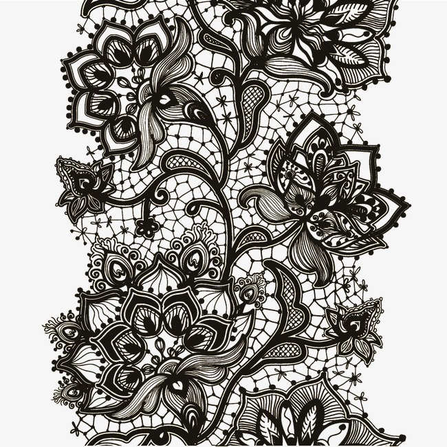 650x651 Black Lace Vector, Creative, Black, Lace Png And Vector For Free