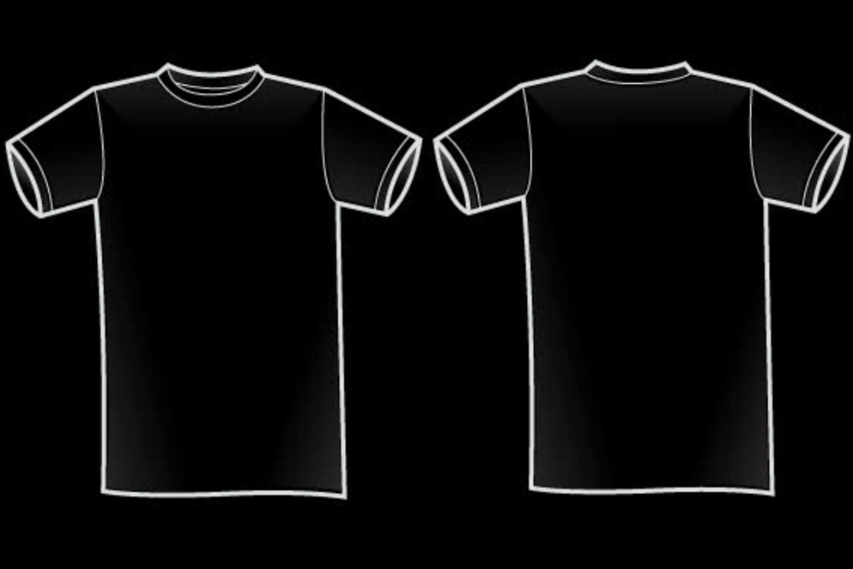 1500x1000 Buy Black T Shirt Template Vector