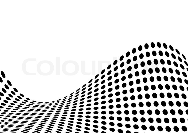 800x569 Black And Whita Halftone Wave Design With Copy Space Stock
