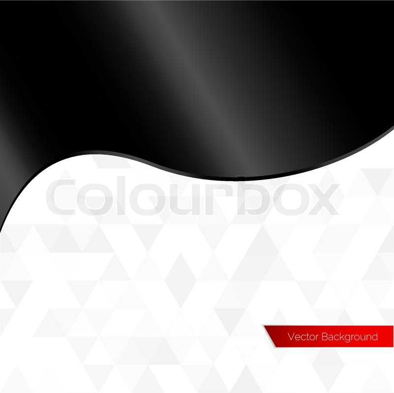 800x799 Black Silk Plastic Shiny Wave Vector Background Stock Vector