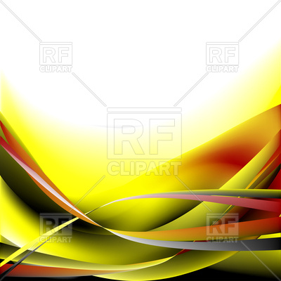 400x400 Colorful Yellow And Black Waves On A White Background Vector Image