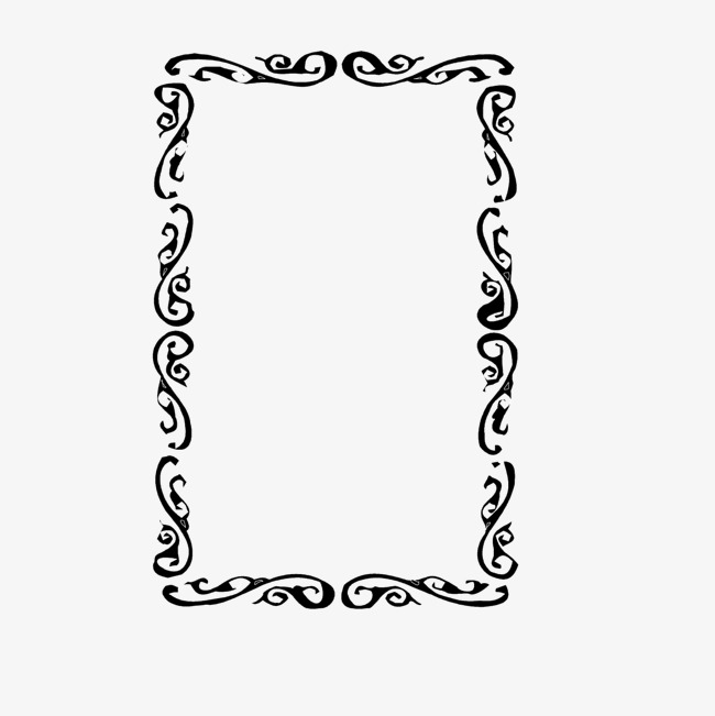 650x651 Vector Black Wave Lace Frame, Black Vector, Wave Vector, Lace