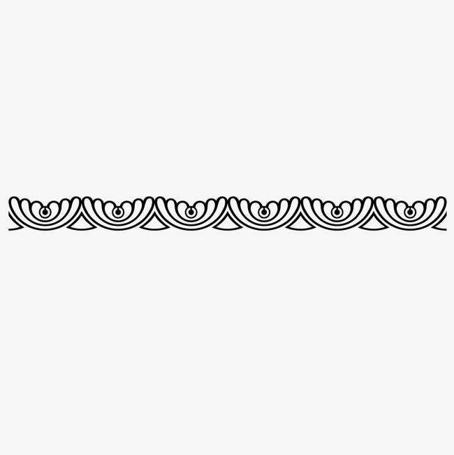 650x651 Vector Wavy Line Border Black Wave Wave, Line Vector, Border