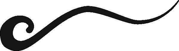600x173 Wave Line Black Clip Art