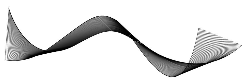 1000x343 Black Wave Vector Illustration Royalty Free Stock Image