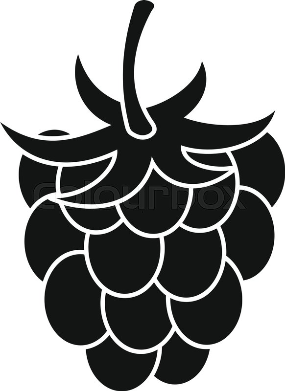582x800 Raspberry Or Blackberry Icon. Simple Illustration Of Raspberry Or
