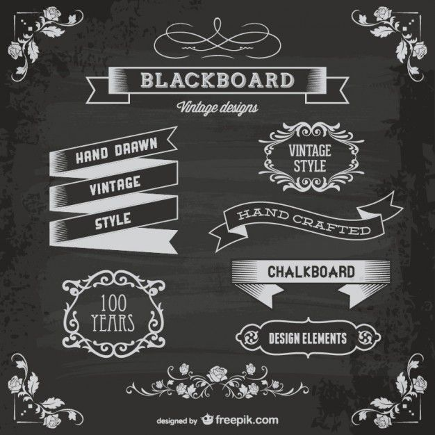 626x626 Blackboard Elements Free Vector Psd Vector In 2018
