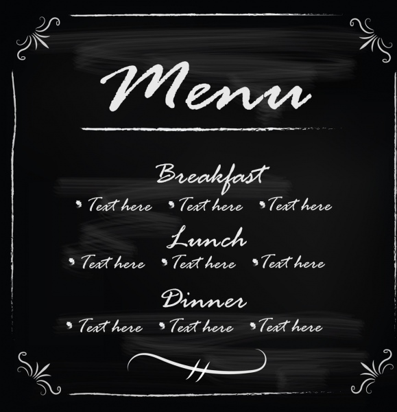 579x600 Blackboard Frame Template Menu Vector Free Vector In Encapsulated