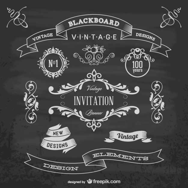 626x626 Blackboard Anniversary Graphic Elements Vector Free Download