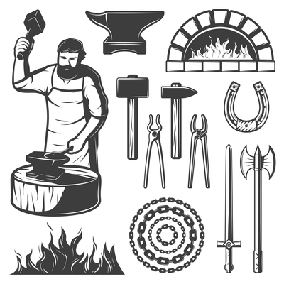 400x400 Blacksmith On Curated Vector Illustrations, Stock Royalty Free