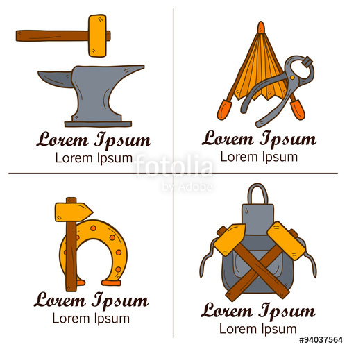 500x500 Blacksmith Vector Concept Stock Image And Royalty Free Vector