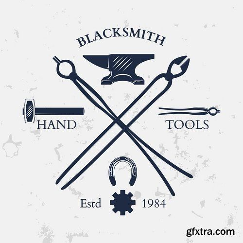 500x500 Collection Of Different Vector Images Blacksmith Anvil Hammer