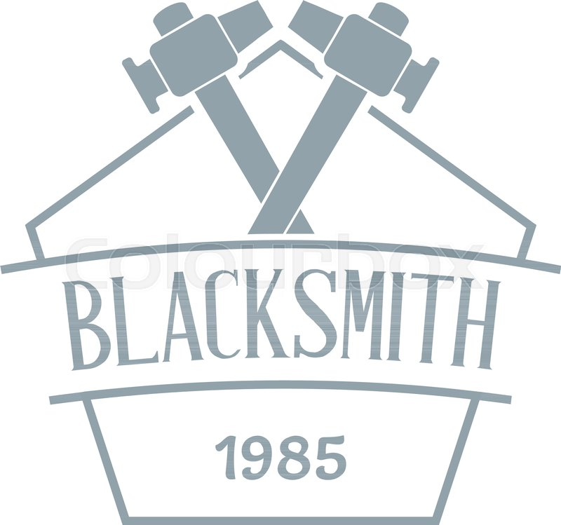 800x749 Hammer Blacksmith Logo. Simple Illustration Of Hammer Blacksmith