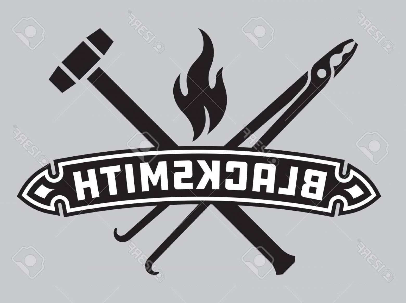 1560x1165 Photostock Vector Blacksmith Vector Emblem Or Badge Retro Style