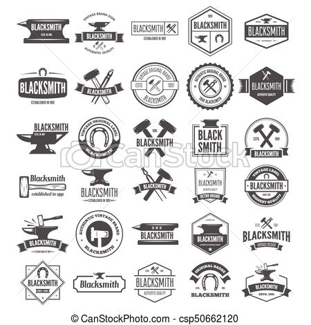 450x470 Set Of Vector Logotypes Elements, Labels, Badges And Silhouettes
