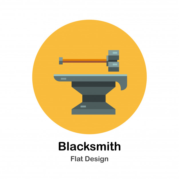 626x626 Blacksmith Vector Premium Download