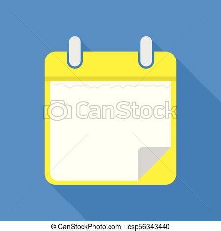 450x470 Blank Calendar Icon, Flat Style. Blank Calendar Icon. Flat