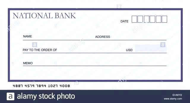 640x347 Blank Cheque Template Editable Check Pictures Vector