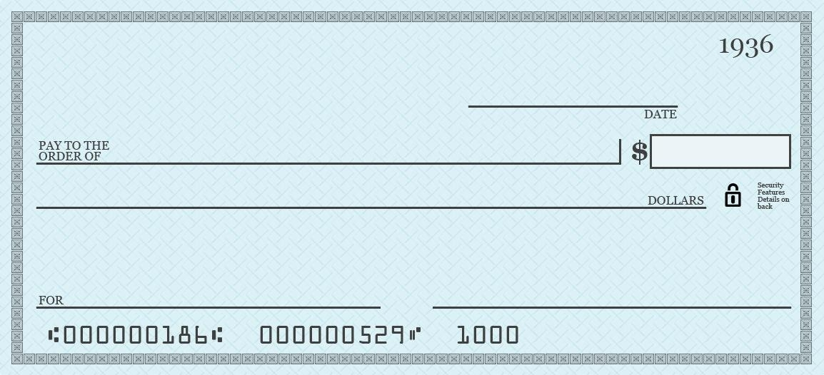 1154x526 Large Blank Cheque Template Presentation Checks Template Free 7