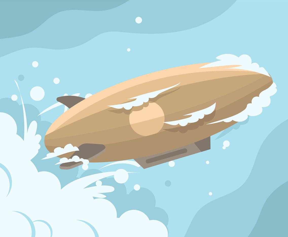 1136x936 Brown Airship Vector Vector Art Amp Graphics