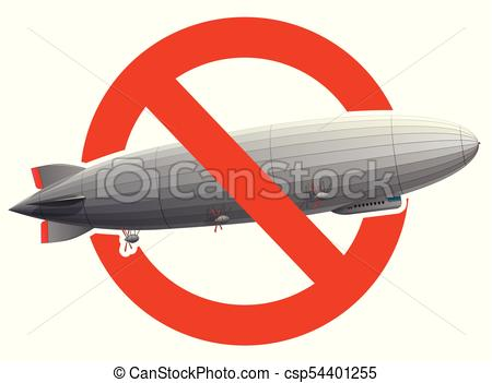 450x351 Prohibition Of Huge Zeppelin Airship Filled With Hydrogen. Strict