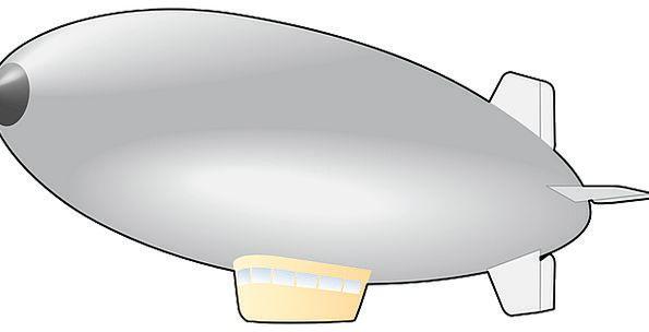 595x304 Vector, Course, Airship, Blimp, Zeppelin, Fly, Hover, Balloon