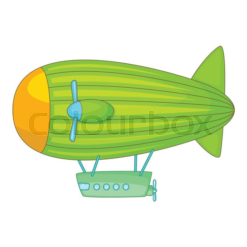 800x800 Big Airship Icon. Cartoon Illustration Of Big Airship Vector Icon