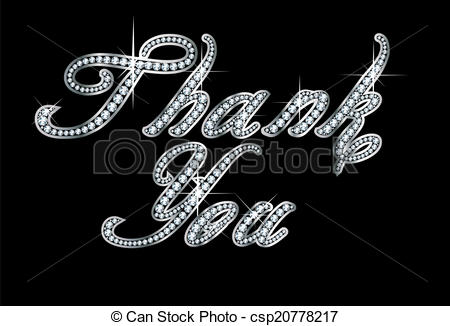 450x326 Thank You In Script Diamond Bling . Stunningly Beautiful Script
