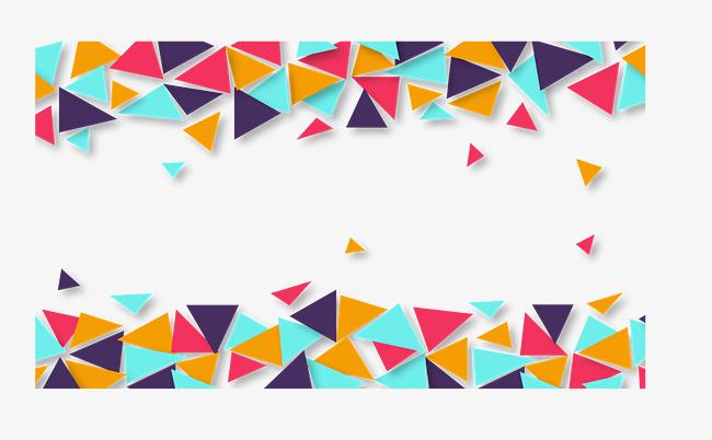 650x402 Geometric Triangle Block Border, Vector Material, Color Triangle