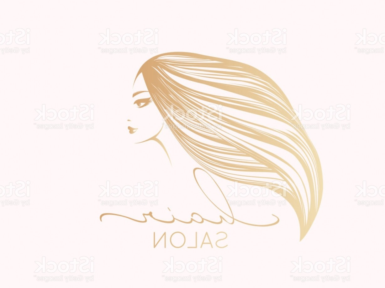 1228x921 Hair Salon Vector Icon Beautiful Woman With Long Blonde Hair And
