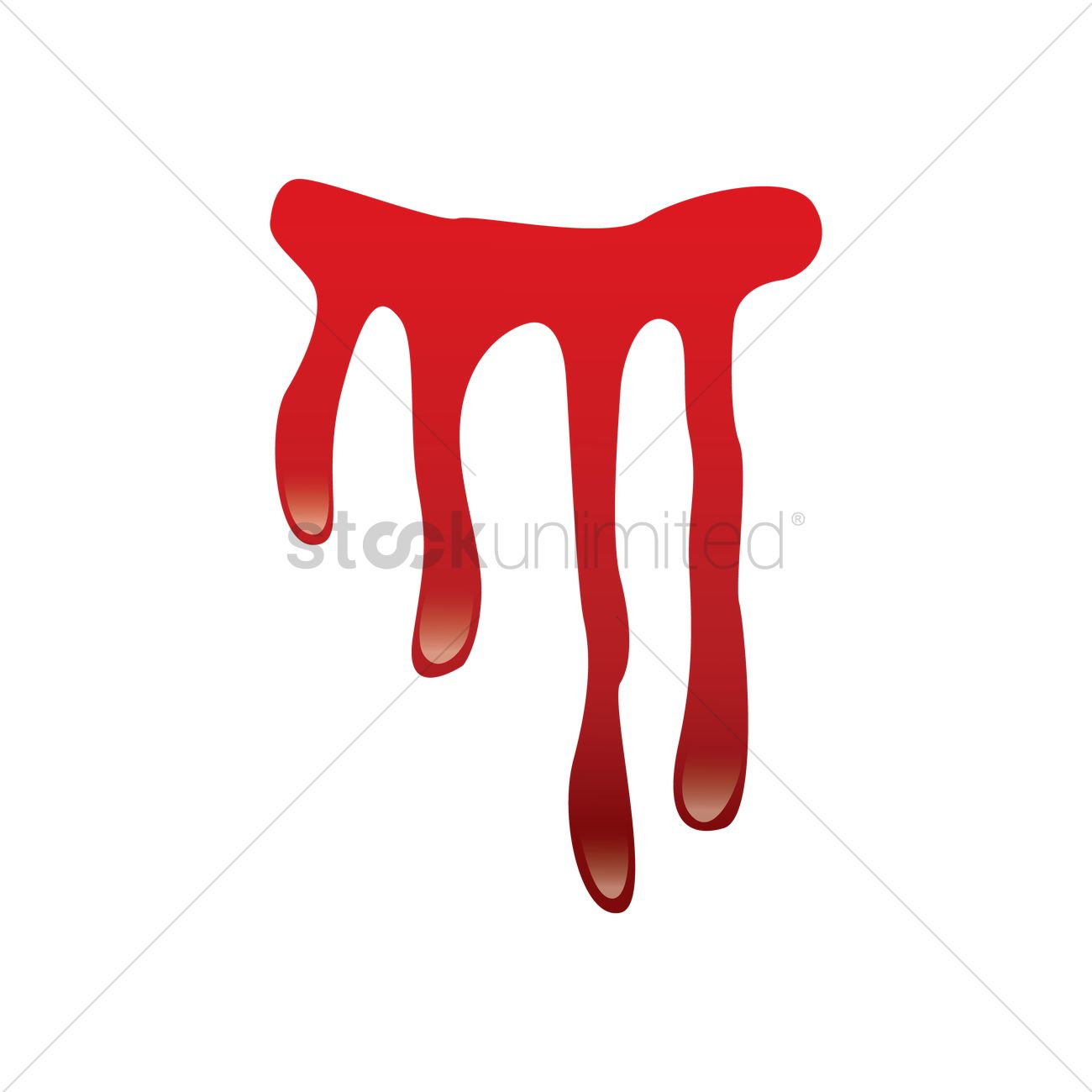 1300x1300 Blood Dripping Vector Image