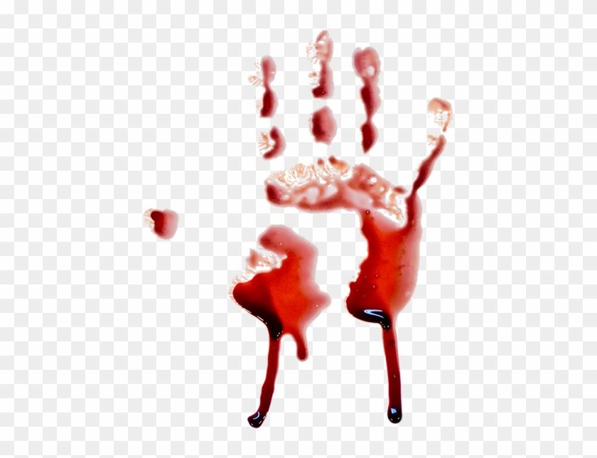 840x644 Hand Print Blood Dripping Vector