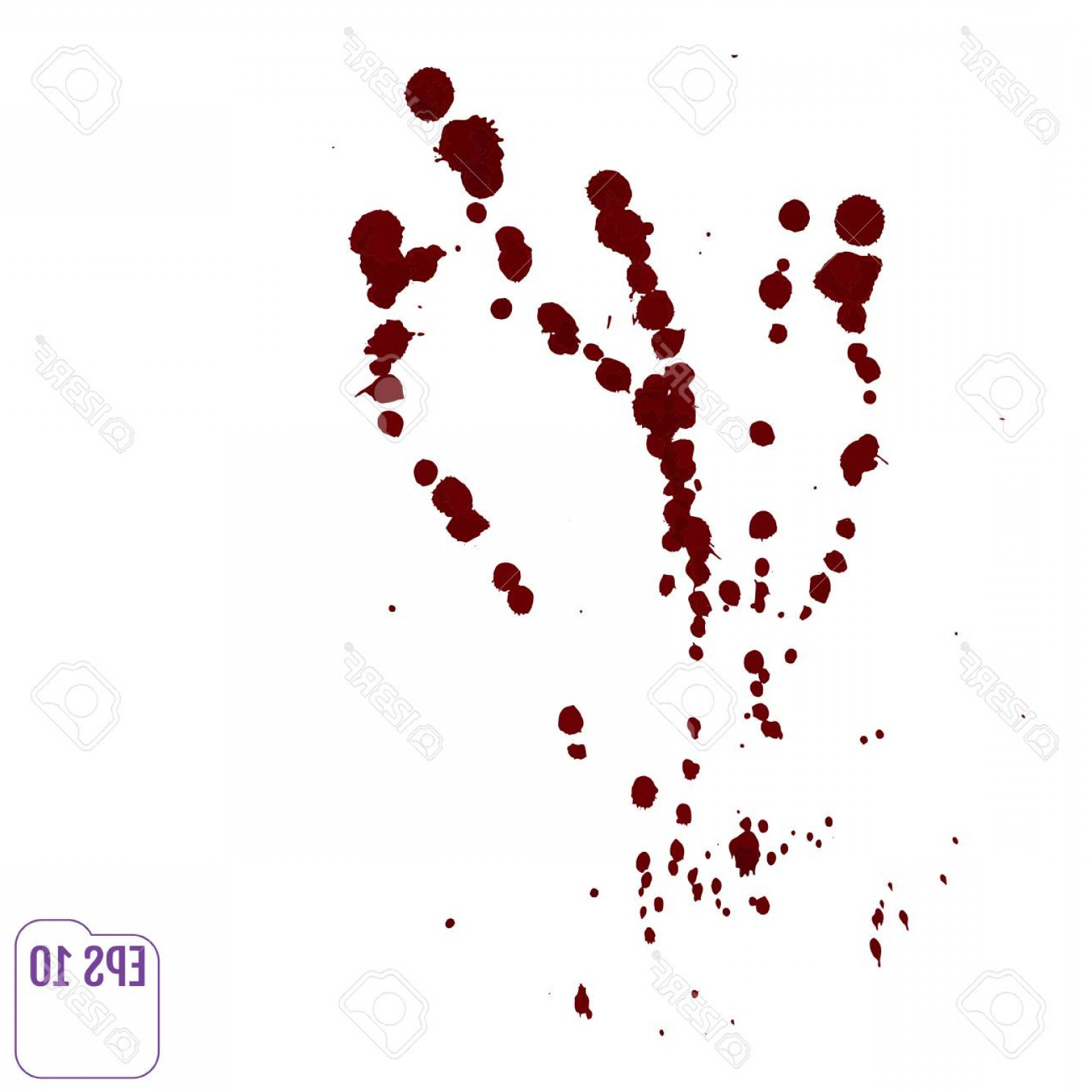1560x1560 Photostock Vector Blood Drip Vector Red Ink Stain Blots And