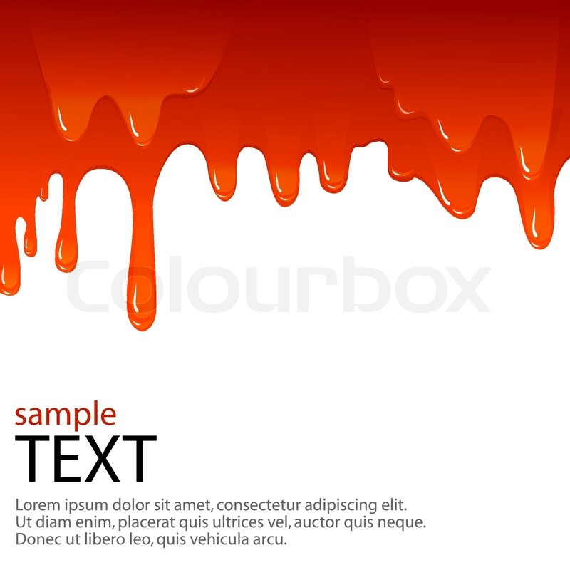 800x800 Vector Background With Dripping Of Blood And Sample Text Stock