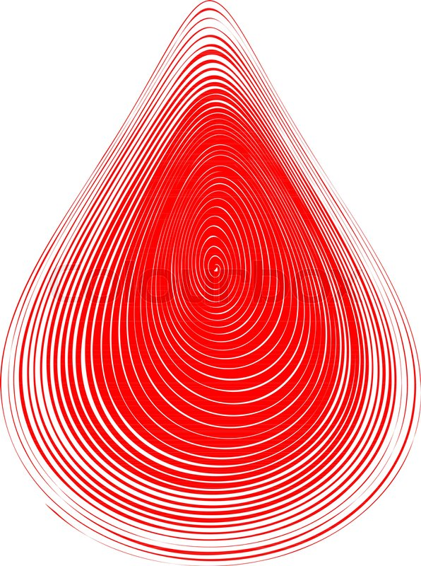 596x800 Abstract Red Blood Drop. Vector Illustration Stock Vector