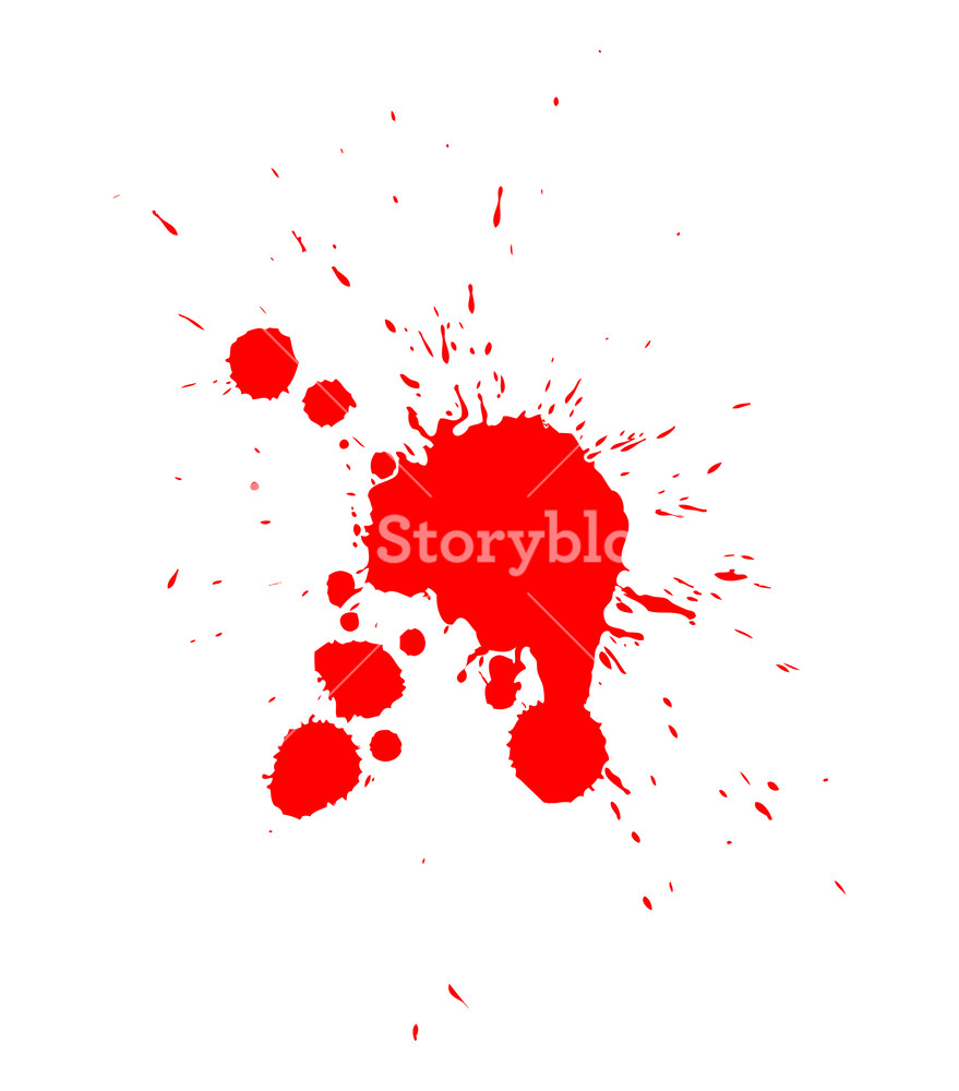 879x1000 Blood Drop Vector Royalty Free Stock Image