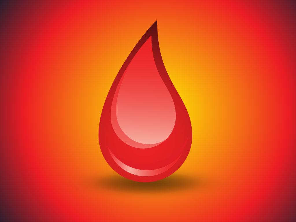 1024x768 Blood Drop Vector