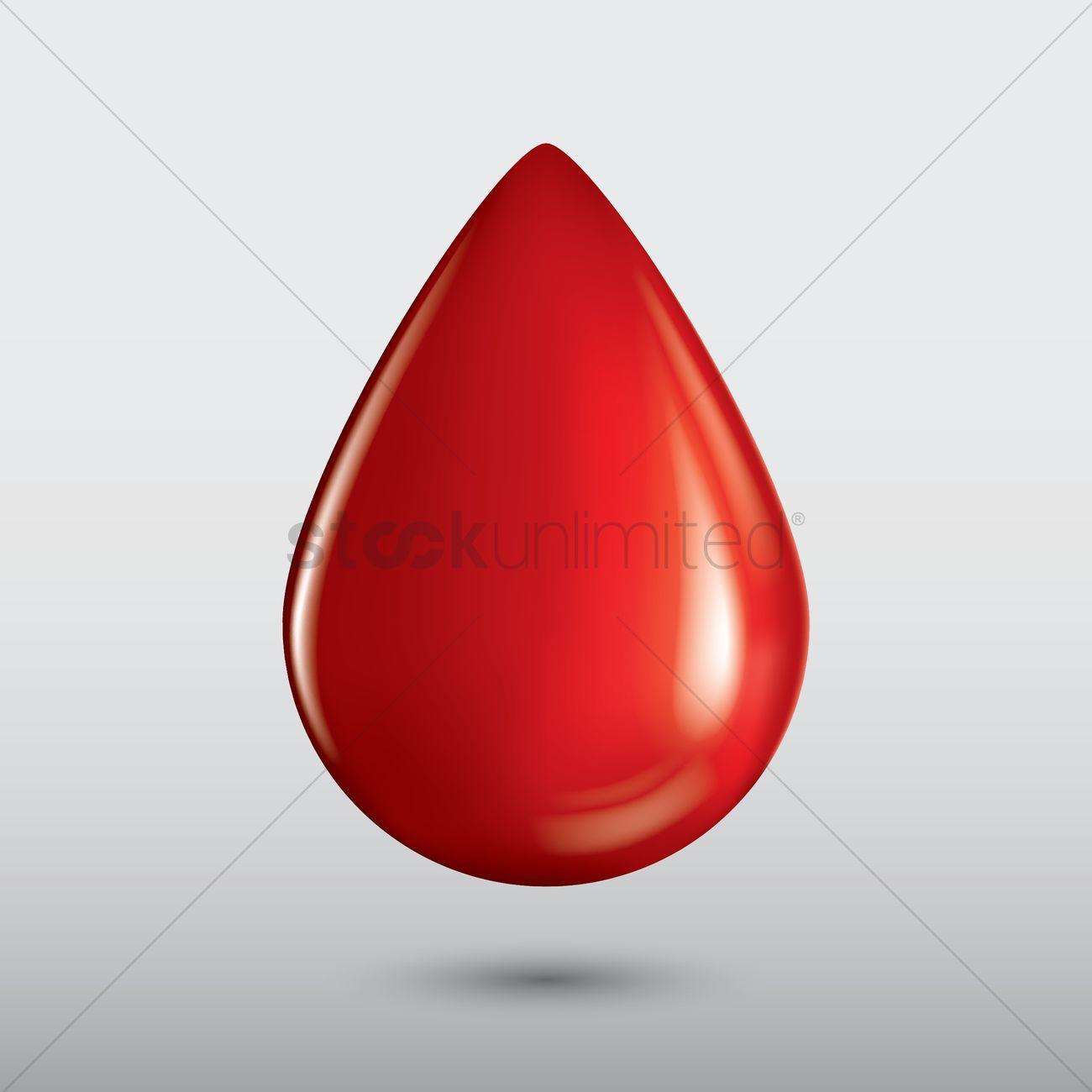 1300x1300 Blood Drop Vector Image