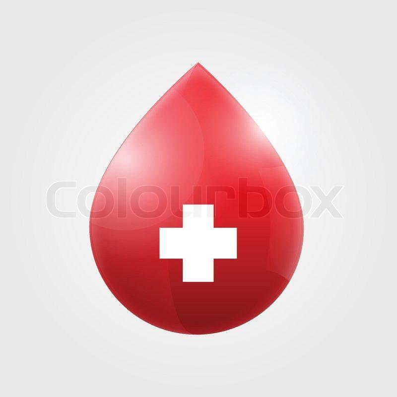 800x800 Blood Drop Vector Illustration Stock Vector Colourbox