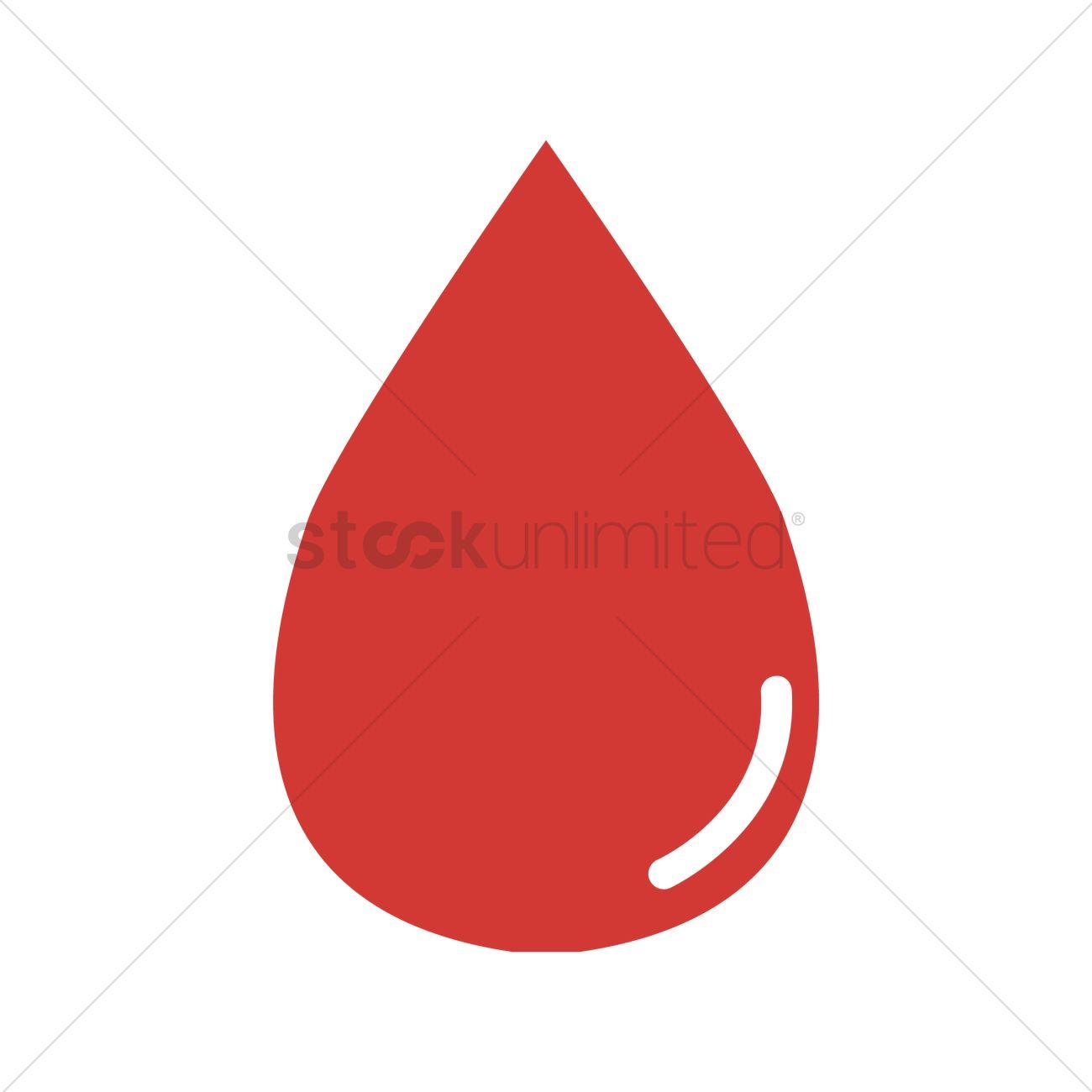 1300x1300 Free Blood Drop Vector Image
