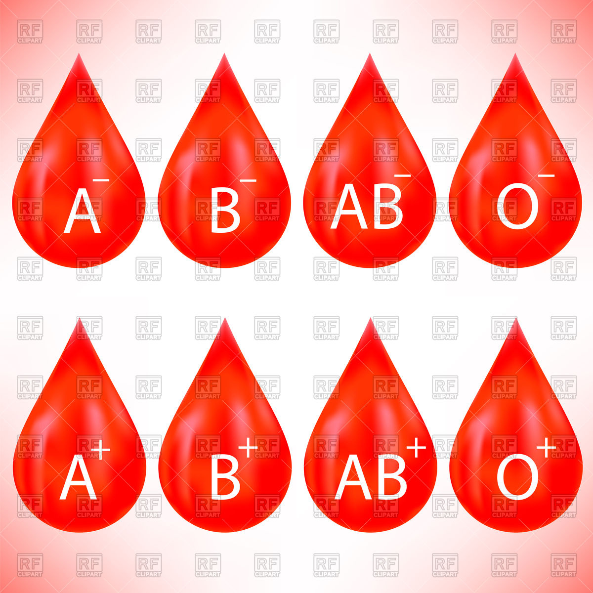 1200x1200 Set Of Red Blood Drops Vector Image Vector Artwork Of Healthcare