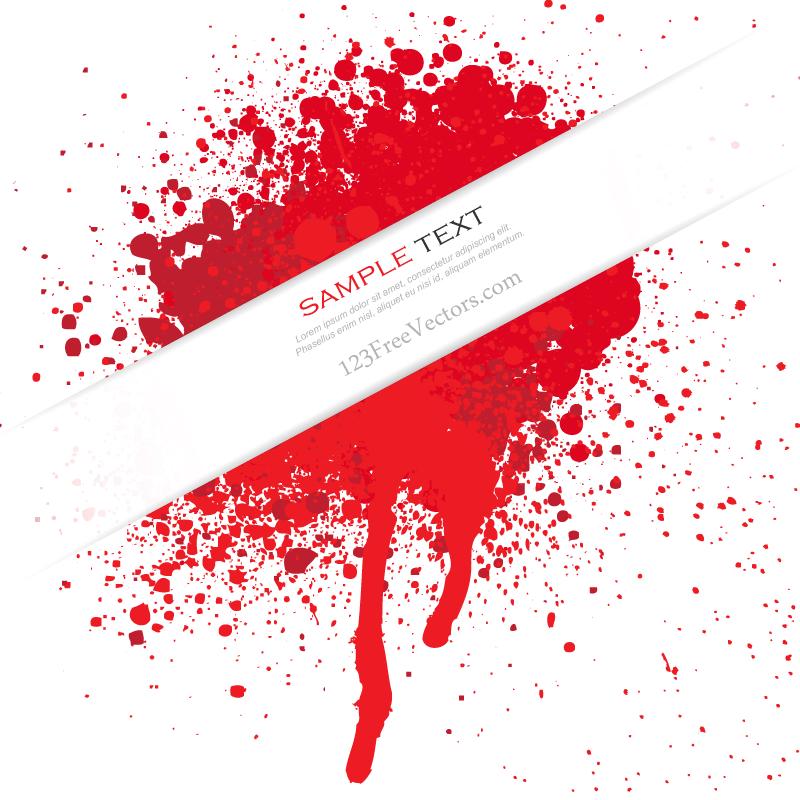 800x800 Blood Splatter Vector Free Download 123freevectors