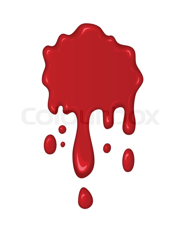 640x800 Blood Splash. Stain Or Drop Of Red Liquid. Abstract Vector