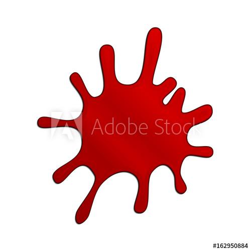 500x500 Blood Splash. Vector Illustration. Isolated Splatter Or Blot Of