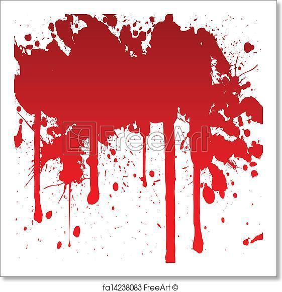 561x581 Free Art Print Of Bloody Splash. Vector Illustration Of A Bloody